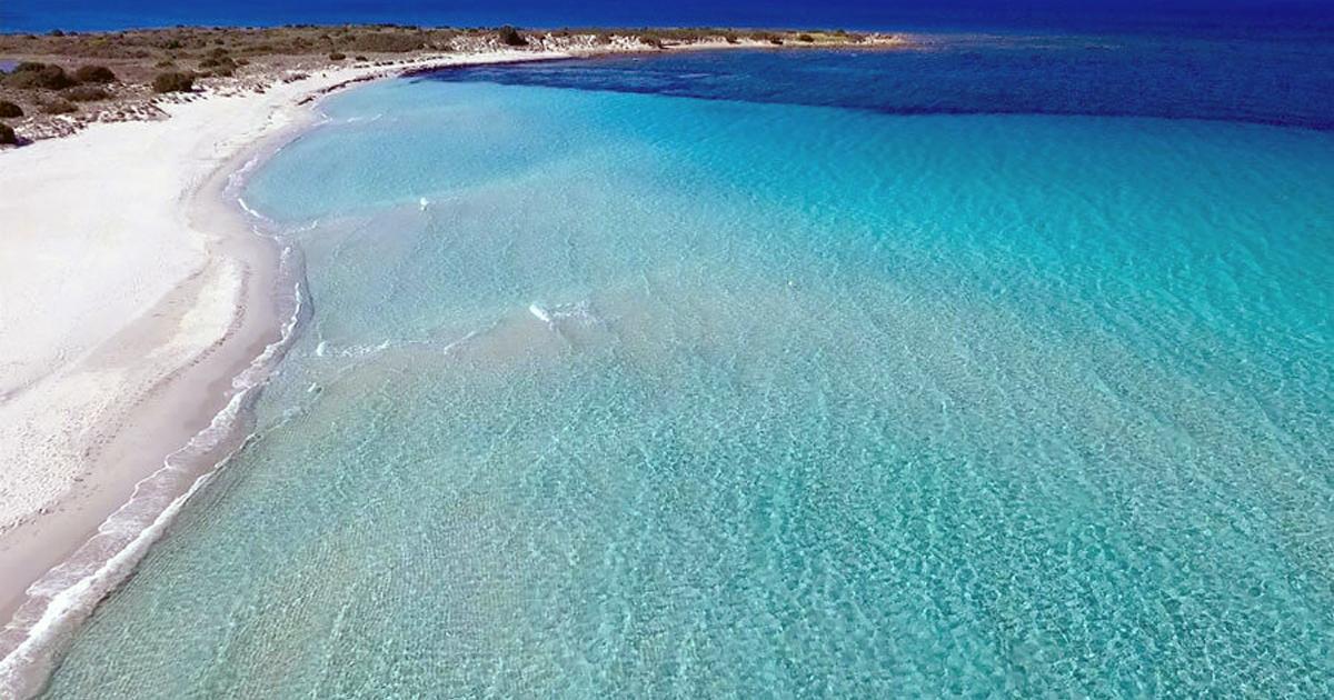 Spiaggia di Isuledda dall'alto